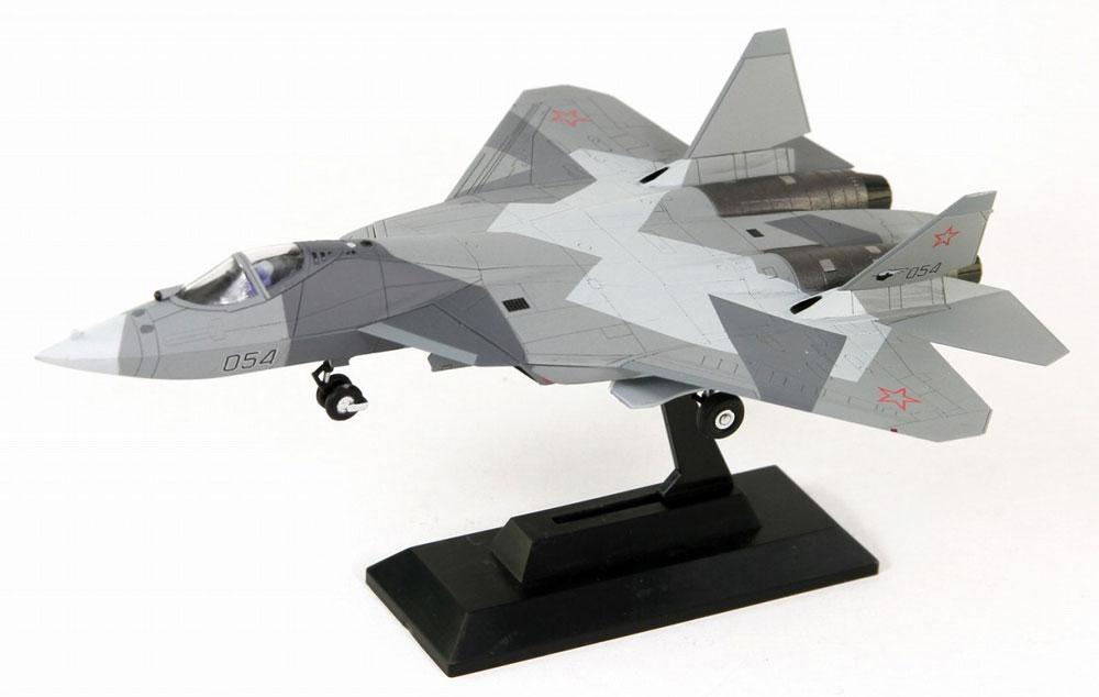 ロシア空軍 戦闘機 Su-57完成品(ピットロードコンプリート エアクラフト シリーズ (塗装済み完成品)No.SNM-015)商品画像_1