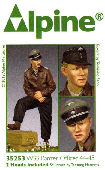 WW2 ドイツ SS戦車部隊 将校 44-45レジン(アルパイン1/35 フィギュアNo.AM35253)商品画像