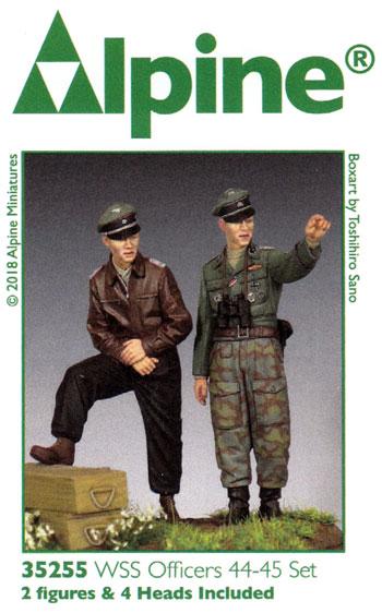 WW2 ドイツ SS将校 44-45 (2体セット)レジン(アルパイン1/35 フィギュアNo.AM35255)商品画像