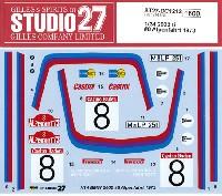 スタジオ27ラリーカー オリジナルデカールBMW 2002 ti #8 アルペンファート 1973 デカール