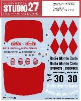 スタジオ27ラリーカー オリジナルデカールBMW 2002 ti #30 モンテカルロ 1975 デカール