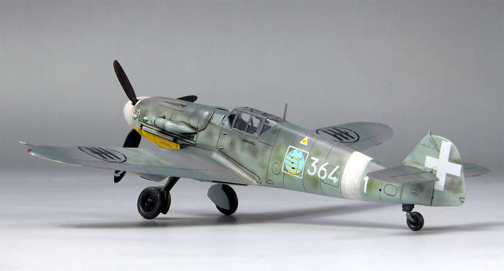 メッサーシュミット Bf109G-6 イタリア空軍プラモデル(ファインモールド1/72 航空機No.75916)商品画像_3