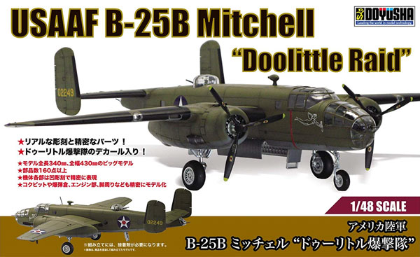 アメリカ陸軍 B-25B ミッチェル ドゥーリトル爆撃隊プラモデル(童友社凄! プラモデルNo.A001)商品画像