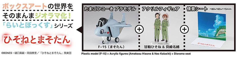 ひそねとまそたん たまごひこーき F-15プラモデル(ハセガワたまごひこーき シリーズNo.SP384)商品画像_1