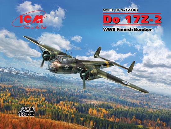 ドルニエ Do17Z-2 フィンランド空軍プラモデル(ICM1/72 エアクラフト プラモデルNo.72308)商品画像