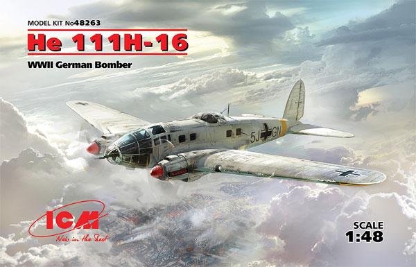 ハインケル He111H-16 爆撃機プラモデル(ICM1/48 エアクラフト プラモデルNo.48263)商品画像