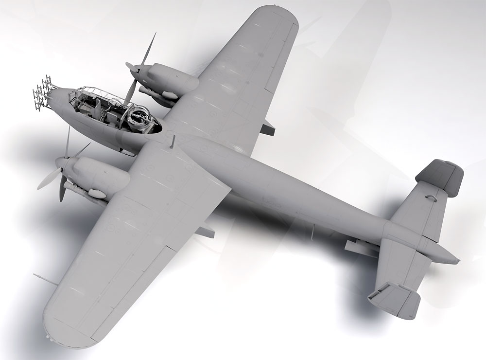 ドルニエ Do217N-1 夜間戦闘機プラモデル(ICM1/48 エアクラフト プラモデルNo.48271)商品画像_2