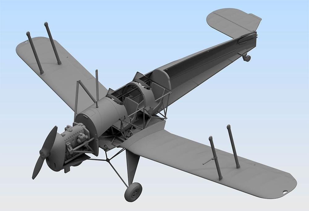 ビュッカー Bu131B ドイツ練習機プラモデル(ICM1/32 エアクラフトNo.32031)商品画像_4