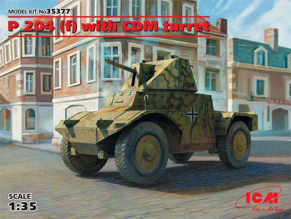P204 (f) 装甲車 CDM砲塔搭載型プラモデル(ICM1/35 ミリタリービークル・フィギュアNo.35377)商品画像