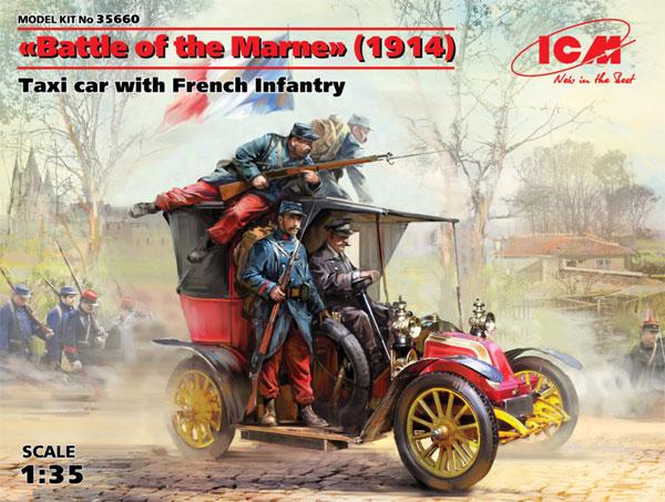 マルヌの戦い ルノータクシー w/フランス歩兵 1914プラモデル(ICM1/35 ミリタリービークル・フィギュアNo.35660)商品画像