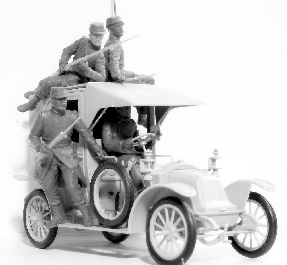 マルヌの戦い ルノータクシー w/フランス歩兵 1914プラモデル(ICM1/35 ミリタリービークル・フィギュアNo.35660)商品画像_2