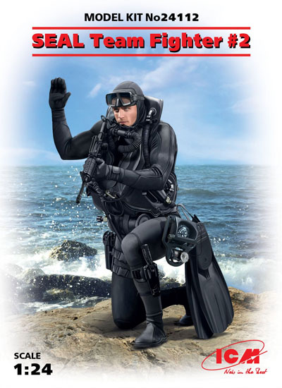 アメリカ海軍 特殊部隊 SEAL隊員 No.2プラモデル(ICM1/24 フィギュアNo.24112)商品画像