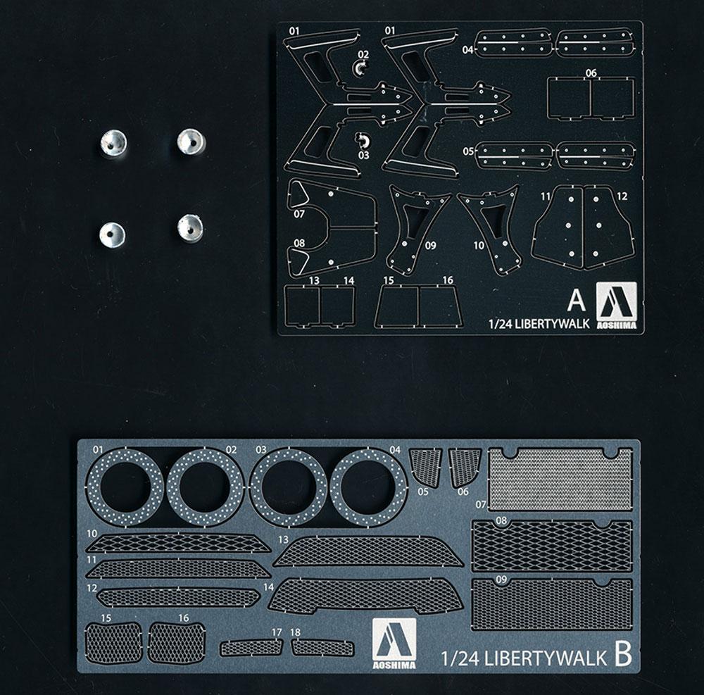 LBワークス R35 GT-R 共通ディテールアップパーツエッチング(アオシマ1/24 リバティウォーク ディテールアップパーツNo.056783)商品画像_1