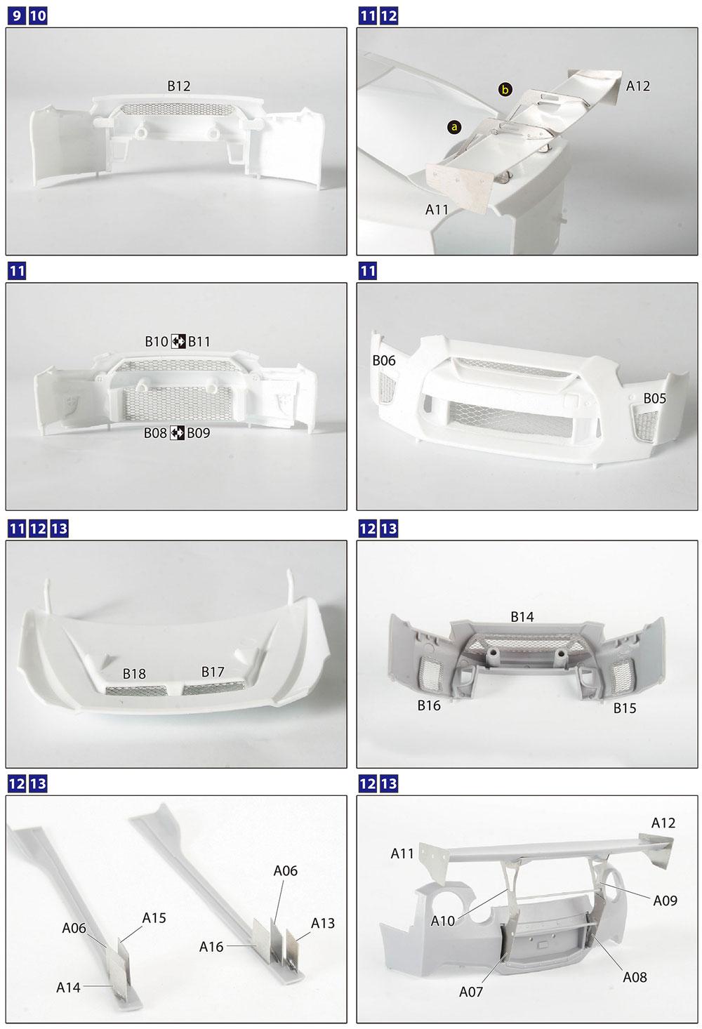 LBワークス R35 GT-R 共通ディテールアップパーツエッチング(アオシマ1/24 リバティウォーク ディテールアップパーツNo.056783)商品画像_3