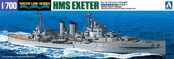 英国海軍 重巡洋艦 エクセタープラモデル(アオシマ1/700 ウォーターラインシリーズNo.807)商品画像