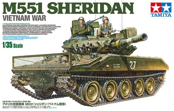 アメリカ 空挺戦車 M551 シェリダン ベトナム戦争プラモデル(タミヤ1/35 ミリタリーミニチュアシリーズNo.365)商品画像