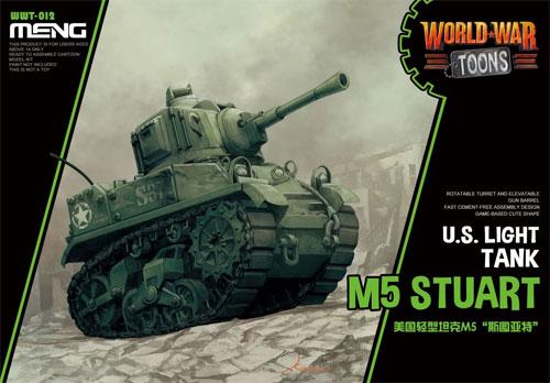 アメリカ 軽戦車 M5 スチュアートプラモデル(MENG-MODELWORLD WAR TOONSNo.WWT-012)商品画像