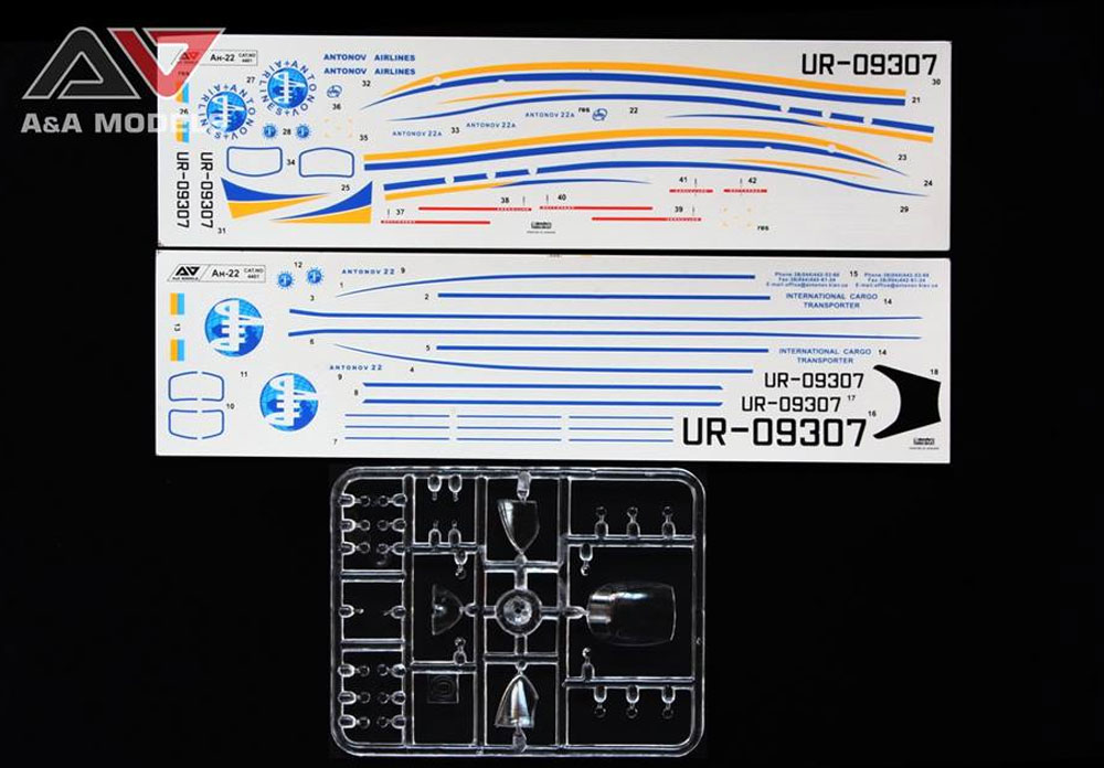 アントノフ An-22 戦略輸送機プラモデル(A&A MODELS1/144 プラスチックモデルNo.4401)商品画像_2