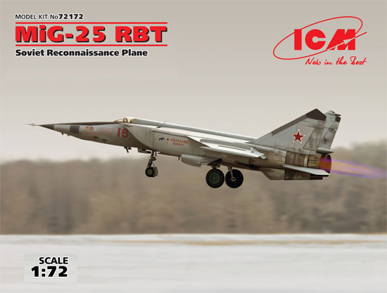 MiG-25 RBTプラモデル(ICM1/72 エアクラフト プラモデルNo.72172)商品画像
