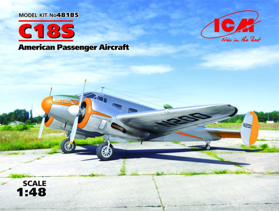 ビーチクラフト C18S 軽旅客機プラモデル(ICM1/48 エアクラフト プラモデルNo.48185)商品画像