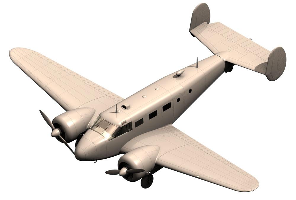 ビーチクラフト C18S 軽旅客機プラモデル(ICM1/48 エアクラフト プラモデルNo.48185)商品画像_2