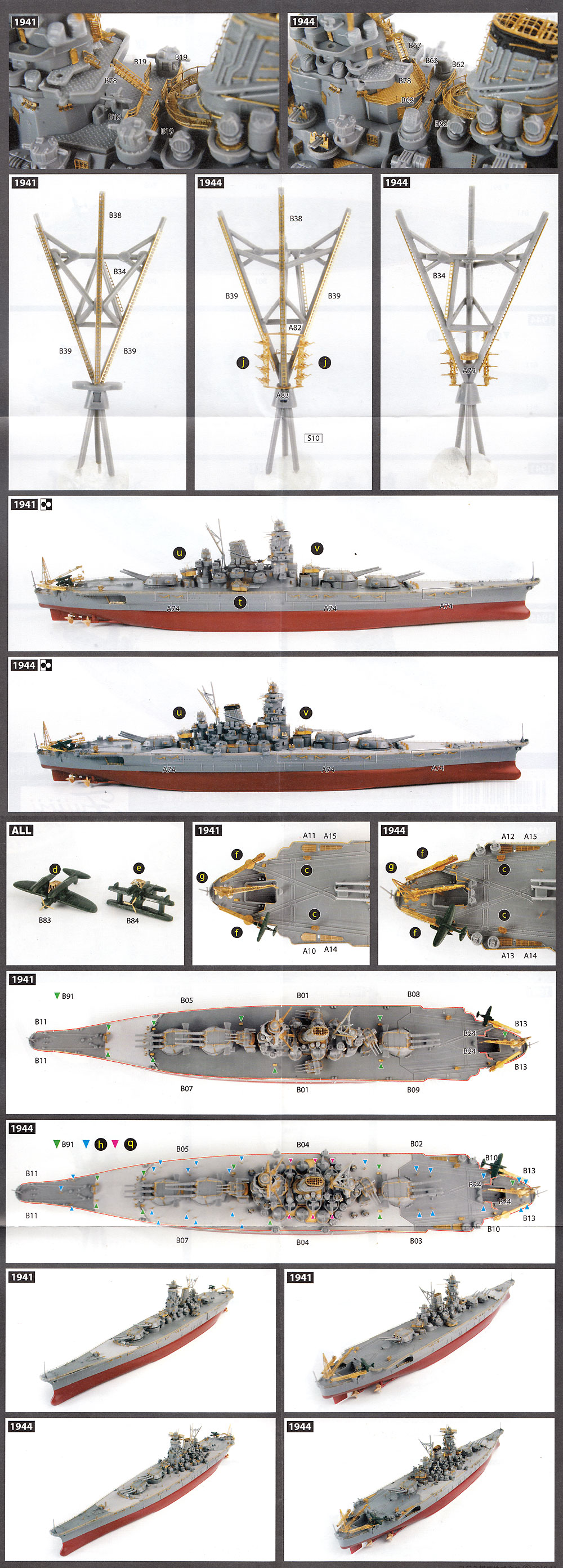 艦NEXT 日本海軍 戦艦 大和 昭和16年/19年 純正エッチングパーツエッチング(フジミ1/700 グレードアップパーツシリーズNo.137)商品画像_4