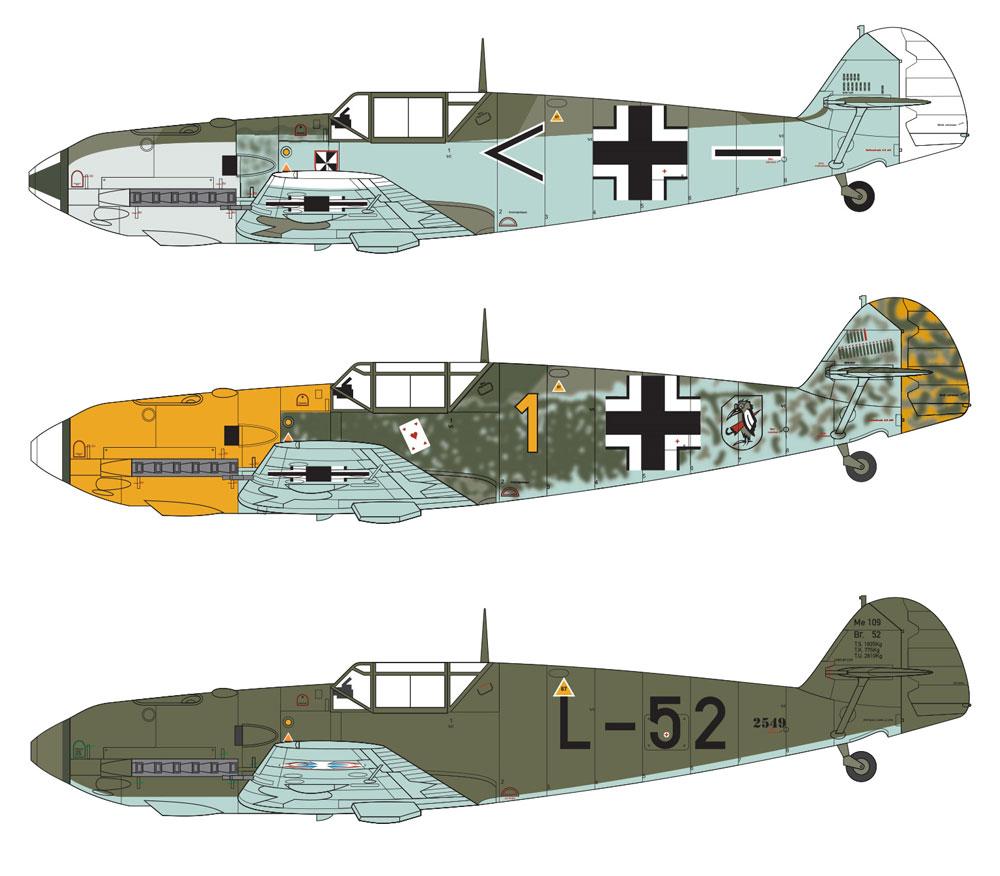 メッサーシュミット Bf109 E-3/E-4プラモデル(エアフィックス1/48 ミリタリーエアクラフトNo.A05120B)商品画像_1