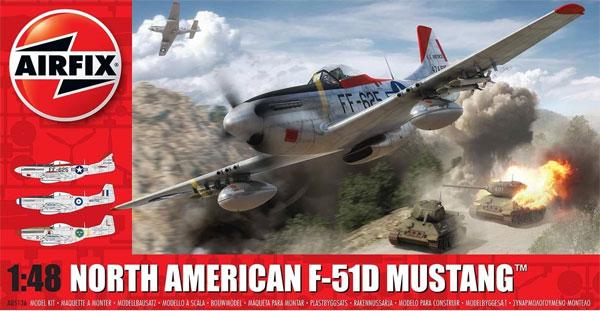 ノースアメリカン F-51D マスタングプラモデル(エアフィックス1/48 ミリタリーエアクラフトNo.A05136)商品画像