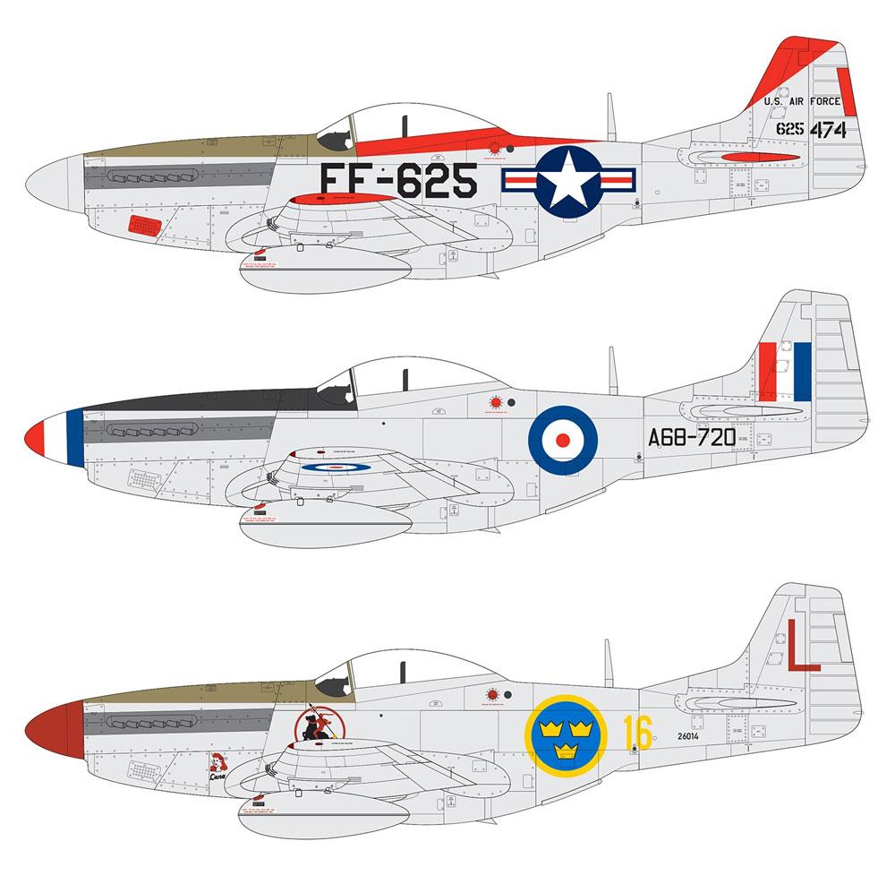 ノースアメリカン F-51D マスタングプラモデル(エアフィックス1/48 ミリタリーエアクラフトNo.A05136)商品画像_1