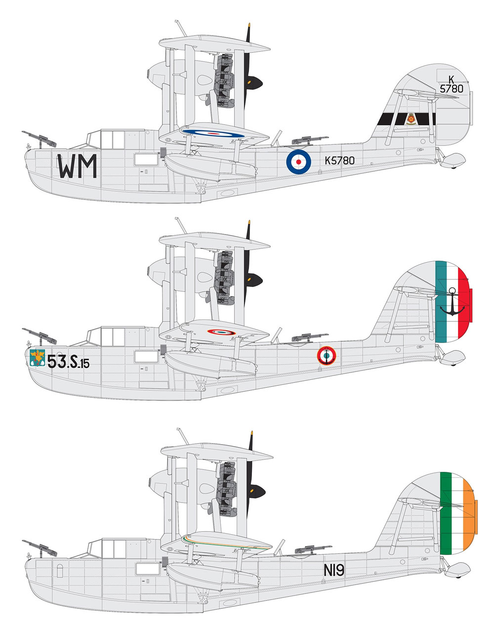 スーパーマリーン ウォーラス Mk.1 シルバーウイングスプラモデル(エアフィックス1/48 ミリタリーエアクラフトNo.A09187)商品画像_1