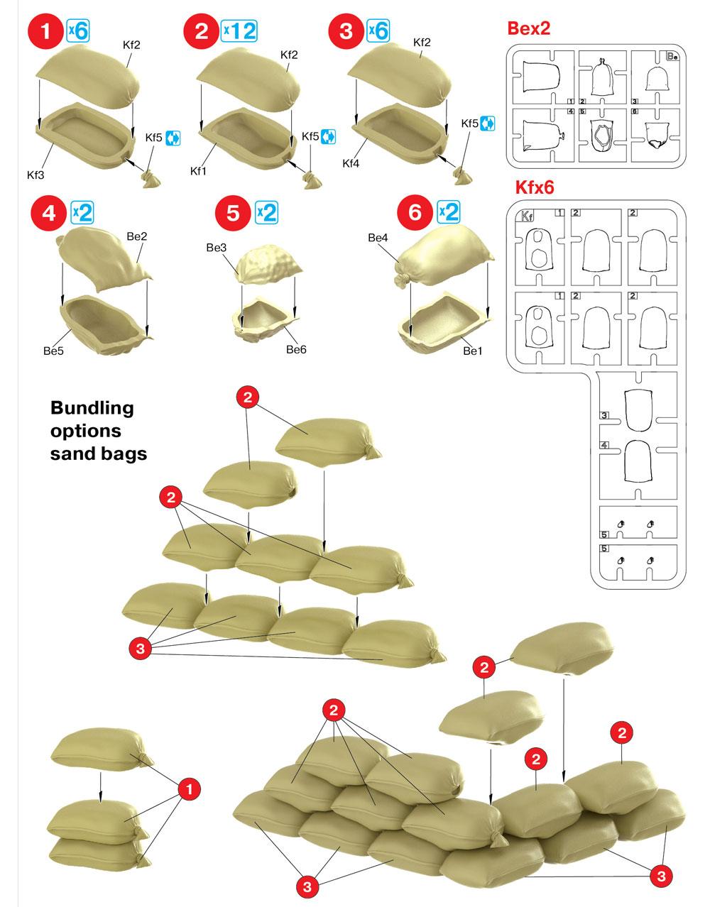 麻布袋プラモデル(ミニアート1/35 ビルディング&アクセサリー シリーズNo.35586)商品画像_1