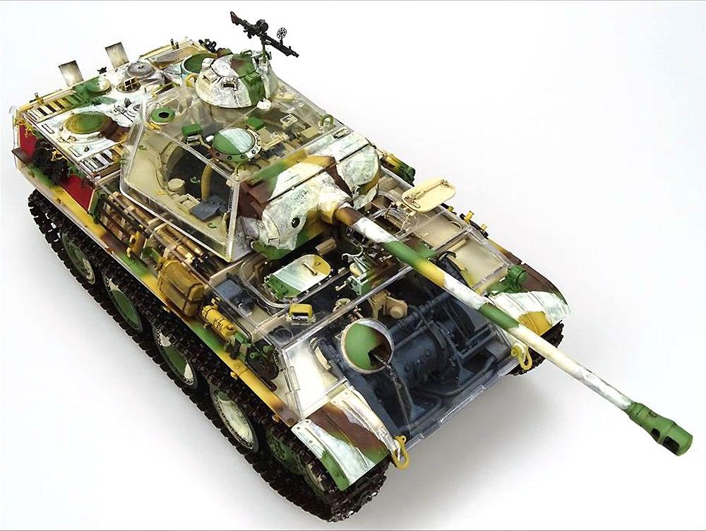 Sd.Kfz.171 パンター G型 w/フルインテリア、可動式履帯、カットモデル用砲塔と車体パーツ付きプラモデル(ライ フィールド モデル1/35 AFVNo.5019)商品画像_3