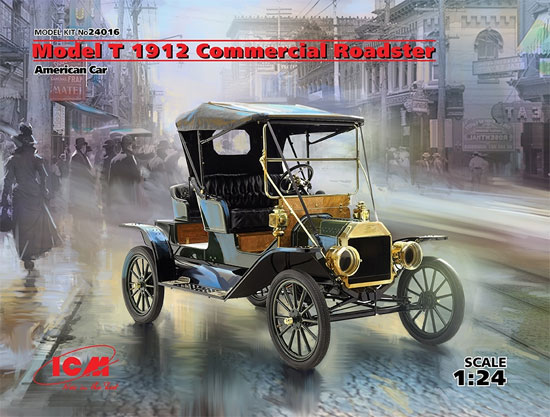 T型フォード 1912 ロードスター 量産型プラモデル(ICM1/24 カーモデルNo.24016)商品画像