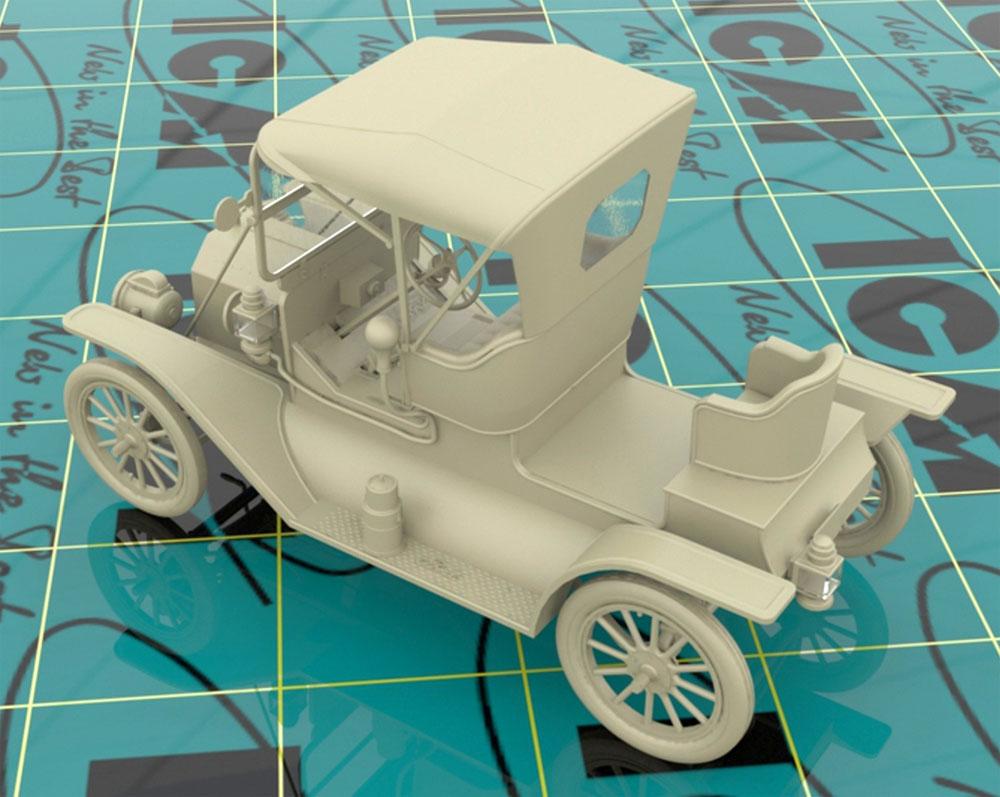 T型フォード 1912 ロードスター 量産型プラモデル(ICM1/24 カーモデルNo.24016)商品画像_3