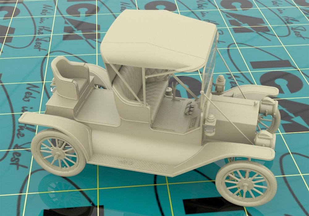 T型フォード 1912 ロードスター 量産型プラモデル(ICM1/24 カーモデルNo.24016)商品画像_4