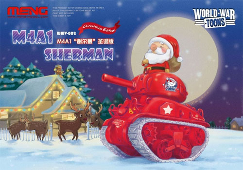 M4A1 シャーマン クリスマスver.プラモデル(MENG-MODELWORLD WAR TOONSNo.WWV-002)商品画像