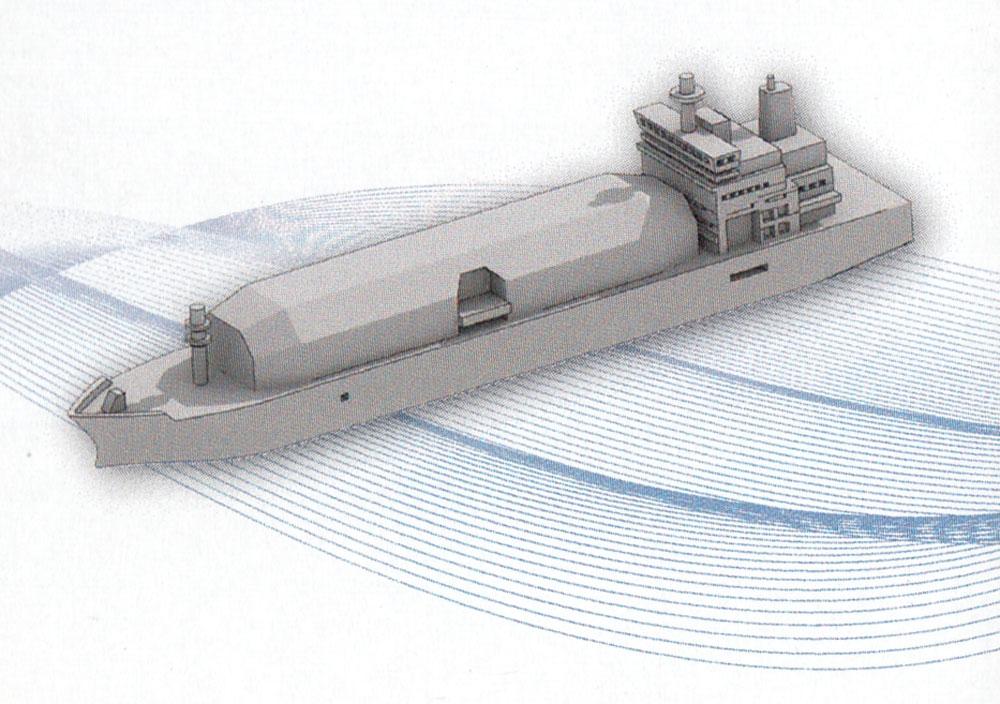 LNG船 Cプラモデル(モデリウムGEO Elemental Vessel シリーズNo.005)商品画像_2