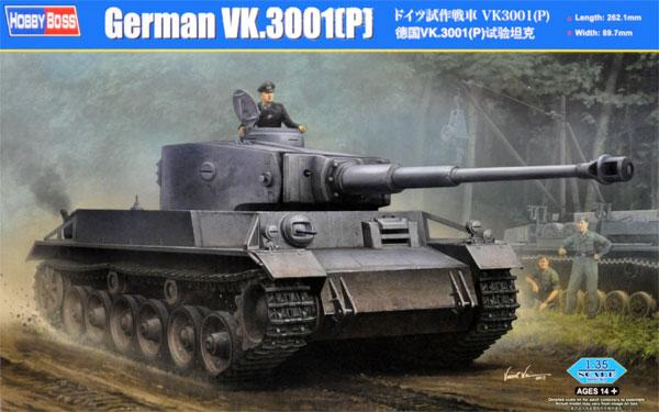 ドイツ 試作戦車 VK3001 (P)プラモデル(ホビーボス1/35 ファイティングビークル シリーズNo.35891)商品画像