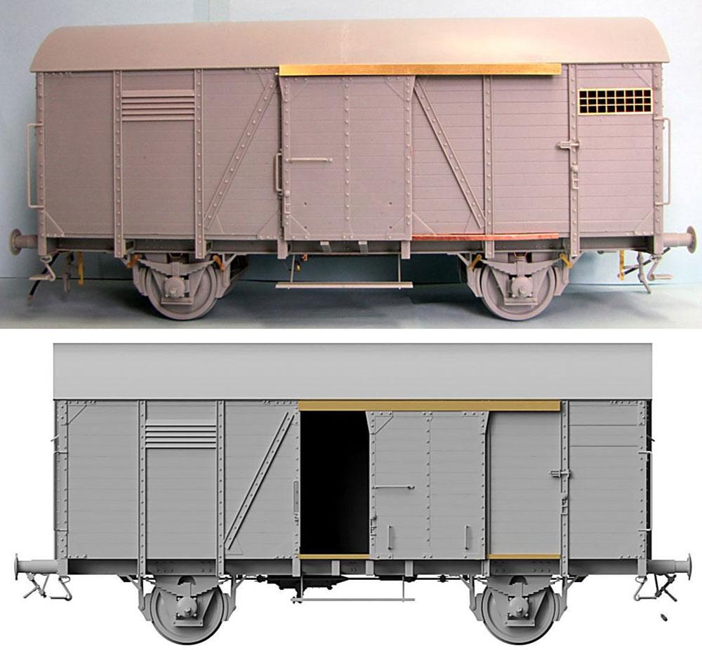 ドイツ 有蓋貨車 Gr 15t アーチ型プラモデル(サンダーモデルプラスチックモデルキットNo.35902)商品画像_3
