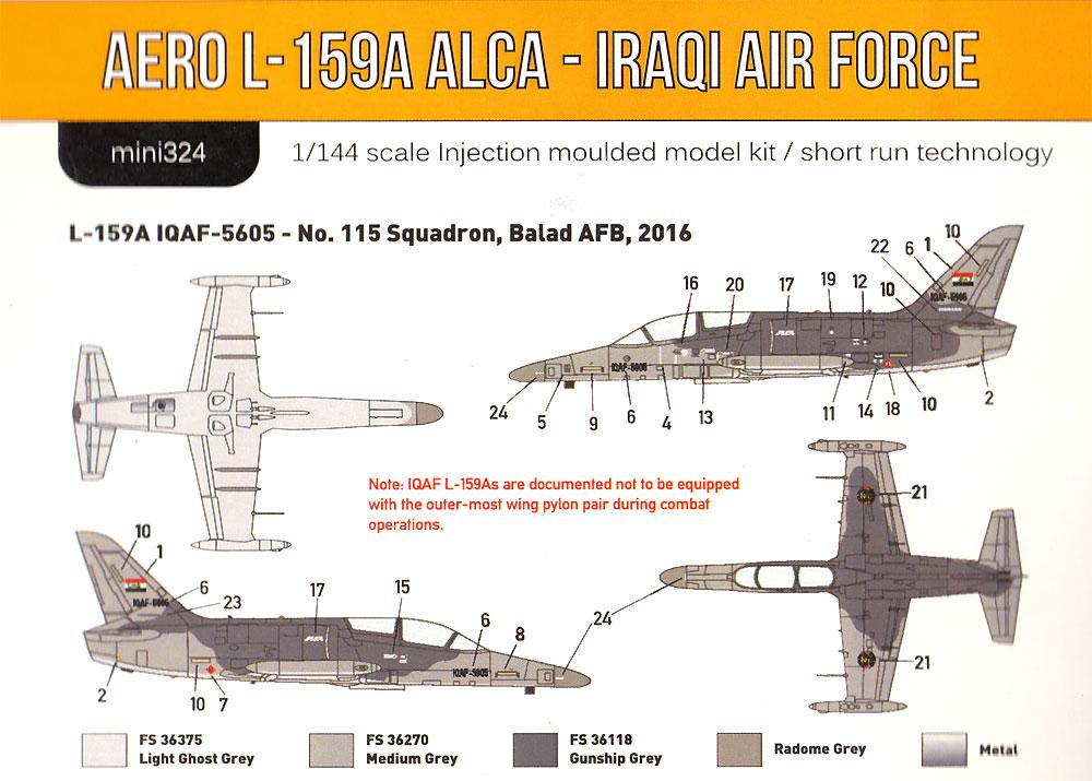 アエロ L-159A ALCA イラク空軍プラモデル(ミニウイング1/144 インジェクションキットNo.mini324)商品画像_1