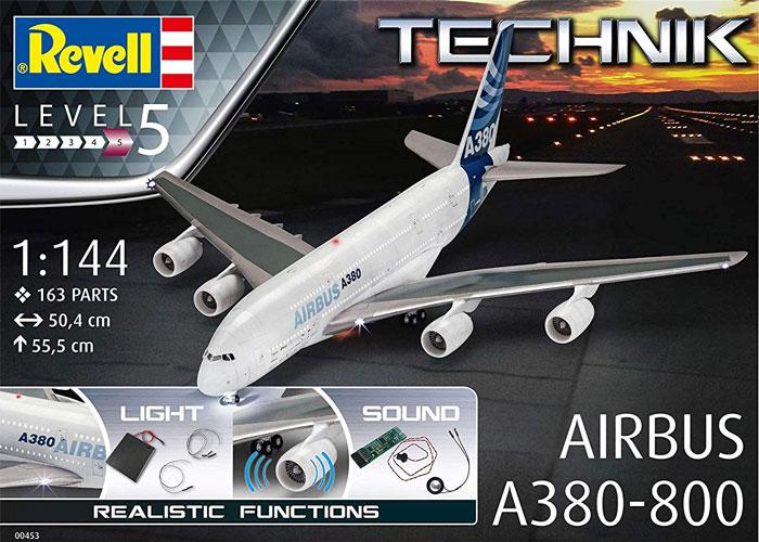エアバス A380-800プラモデル(レベルレベルテクニックNo.00453)商品画像