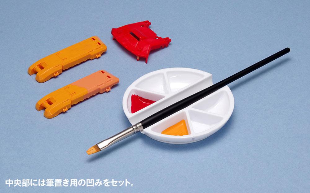 白い塗料皿 6マス & 筆置きタイプ皿(ウェーブマテリアルNo.OM-186)商品画像_3