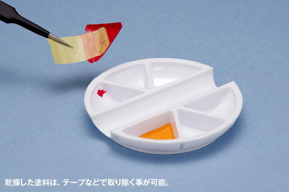 白い塗料皿 6マス & 筆置きタイプ皿(ウェーブマテリアルNo.OM-186)商品画像_4