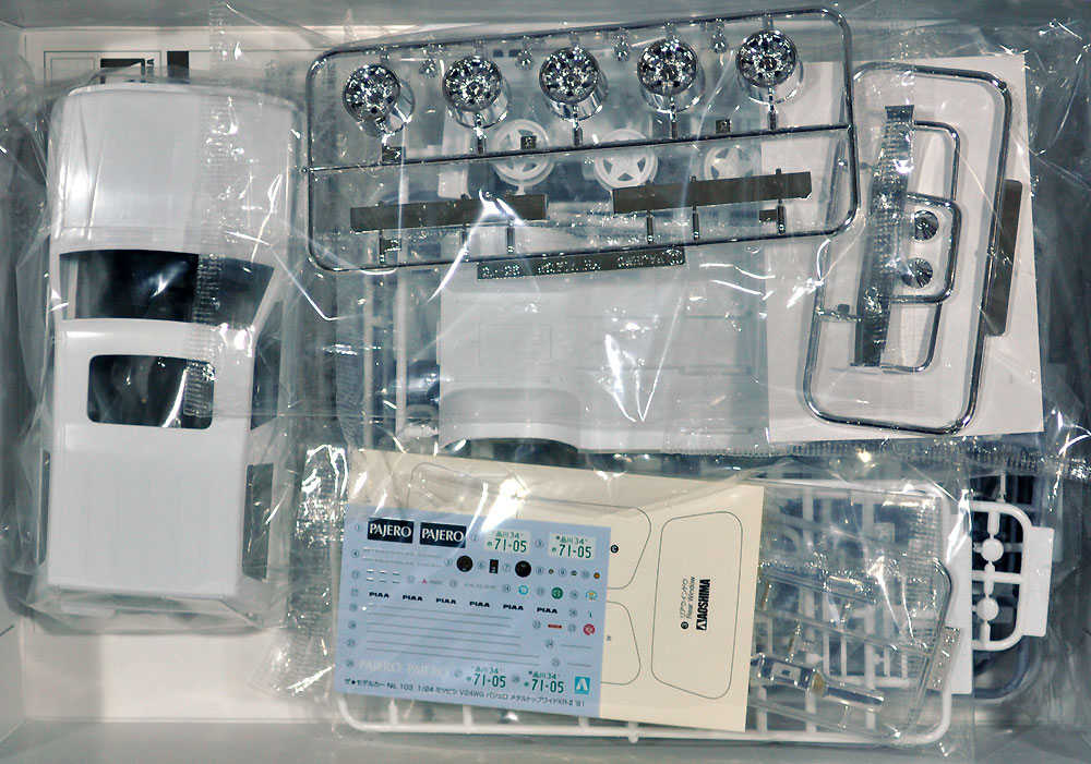ミツビシ V24WG パジェロ メタルトップワイド XR-2 '91プラモデル(アオシマ1/24 ザ・モデルカーNo.103)商品画像_1