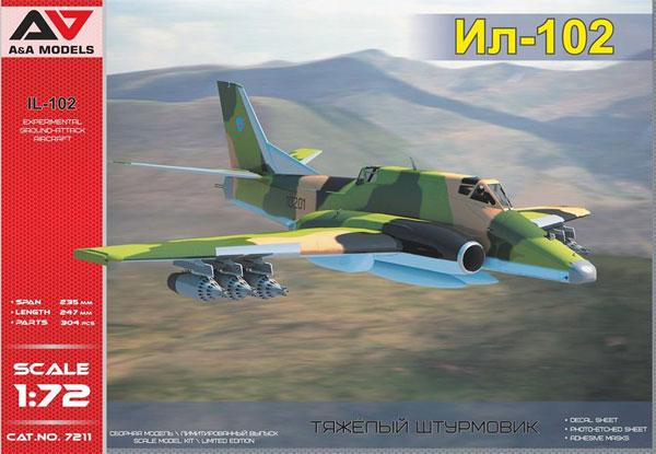 イリューシン IL-102 試作攻撃機プラモデル(A&A MODELS1/72 プラスチックモデルNo.7211)商品画像