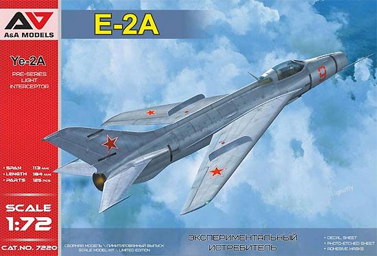 ミコヤン Ye-2A フェイスプレイト 試作戦闘機プラモデル(A&A MODELS1/72 プラスチックモデルNo.7220)商品画像