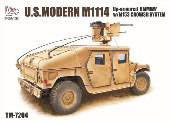 M1114 ハンヴィー w/M153 クロウ 2 システムプラモデル(ティーモデル1/72 ミリタリー プラモデルNo.TM7204)商品画像