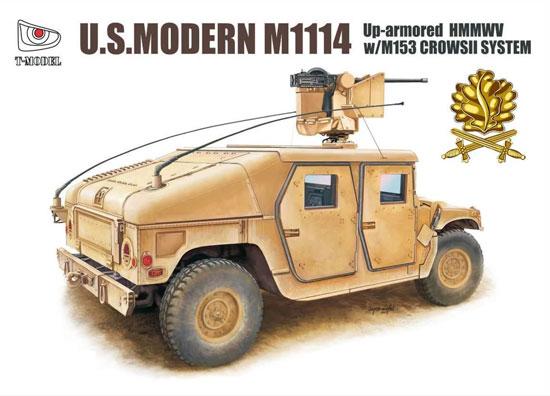 M1114 ハンヴィー w/M153 クロウ 2 システム ゴールデンオークリーフセットプラモデル(ティーモデル1/72 ミリタリー プラモデルNo.TM7204-G)商品画像