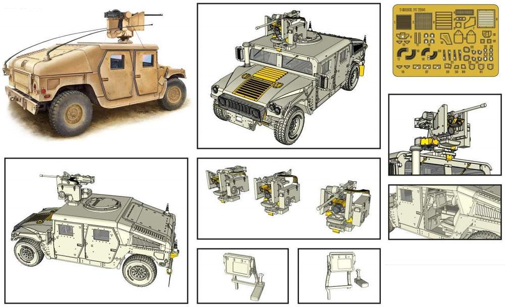 M1114 ハンヴィー w/M153 クロウ 2 システム ゴールデンオークリーフセットプラモデル(ティーモデル1/72 ミリタリー プラモデルNo.TM7204-G)商品画像_2