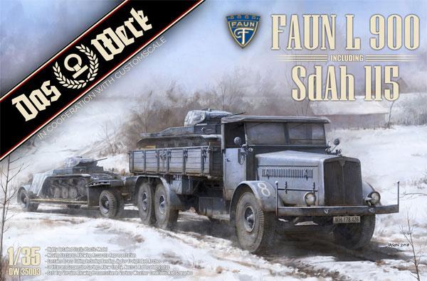 ファウン L900 トラック w/SdAh115 トレーラープラモデル(ダス ヴェルク1/35 ミリタリーNo.DW35003)商品画像